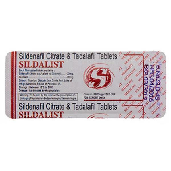 Sildalis (Тадалафил 20мг. + Силденафил 100мг.)